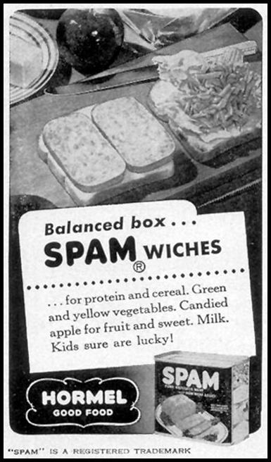 SPAM WOMAN'S DAY 09/01/1948 p. 128