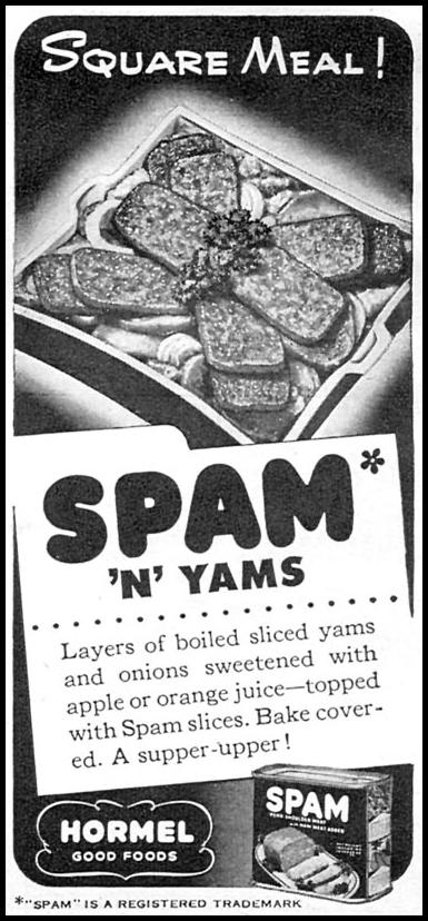 SPAM WOMAN'S DAY 10/01/1946 p. 109