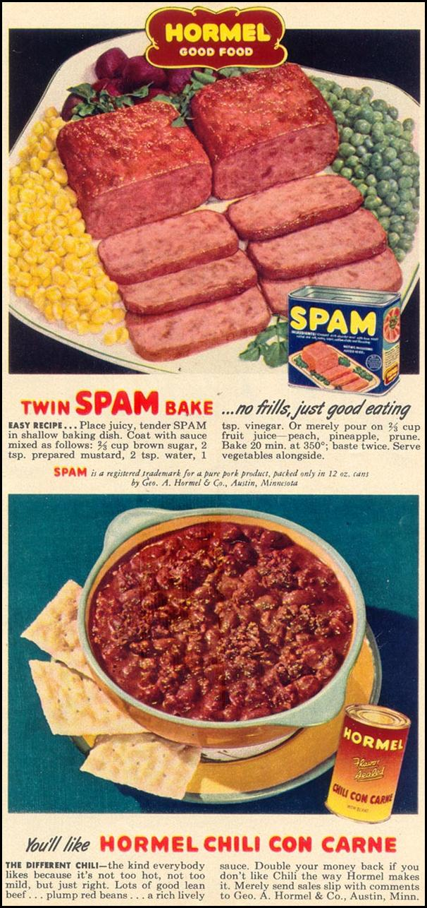 SPAM WOMAN'S DAY 11/01/1949 p. 27
