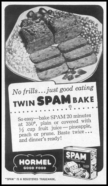 SPAM WOMAN'S DAY 12/01/1948 p. 110