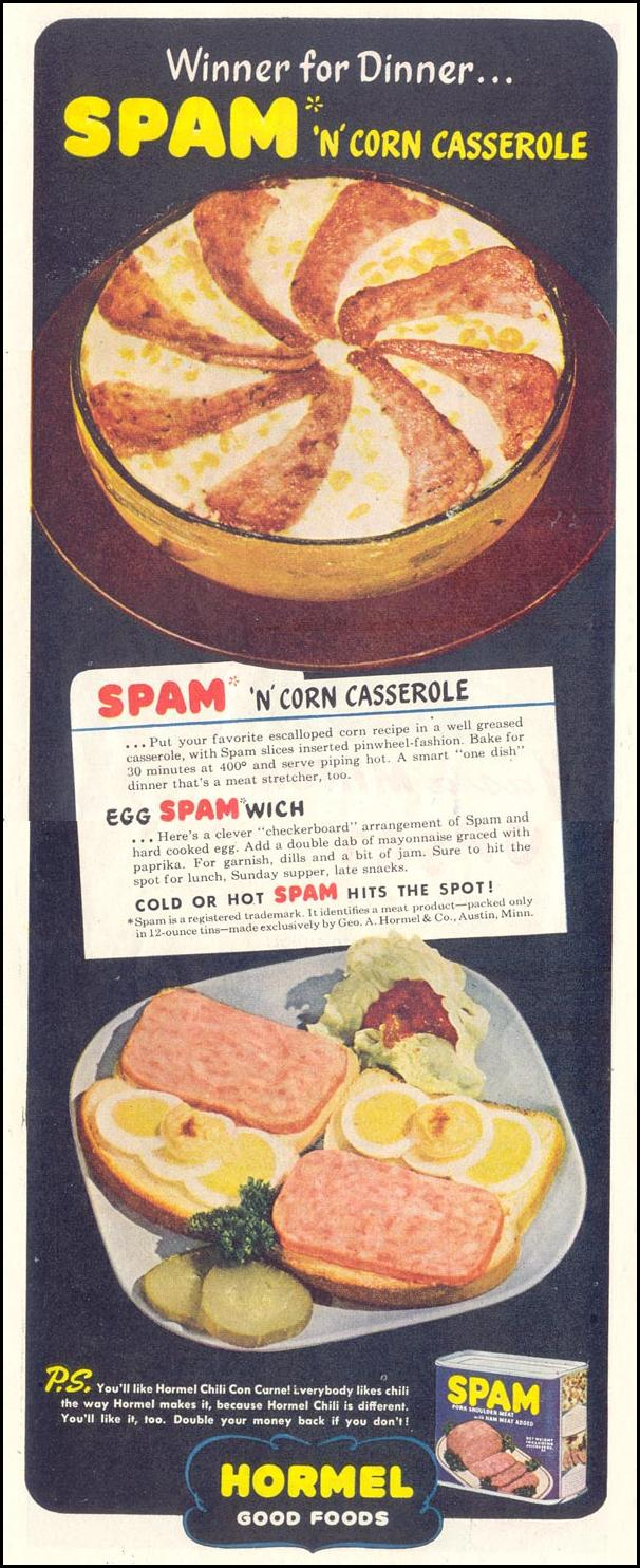 SPAM SATURDAY EVENING POST 05/19/1945 p. 82