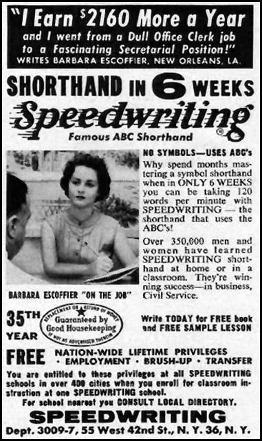 SPEEDWRITING SHORTHAND LIFE 09/09/1957 p. 86