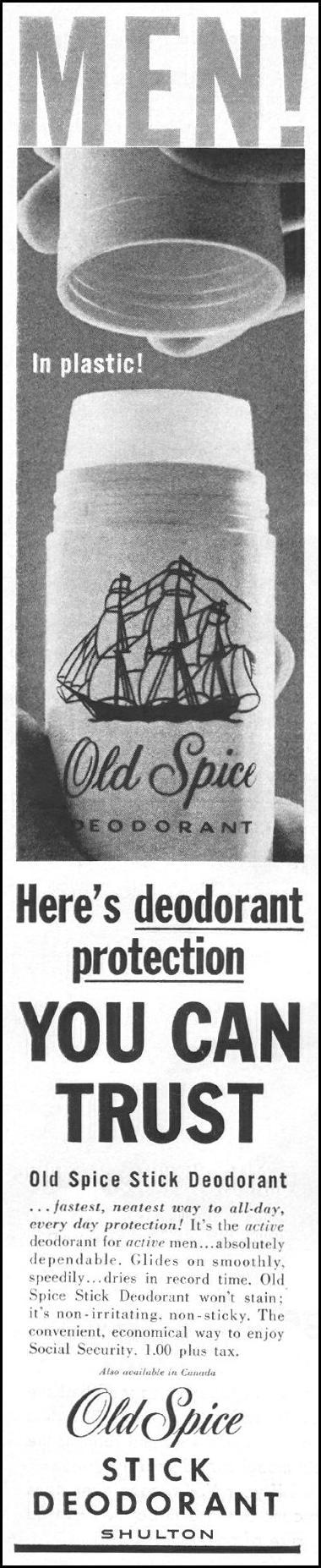 OLD SPICE STICK DEODORANT LIFE 05/05/1961 p. 90