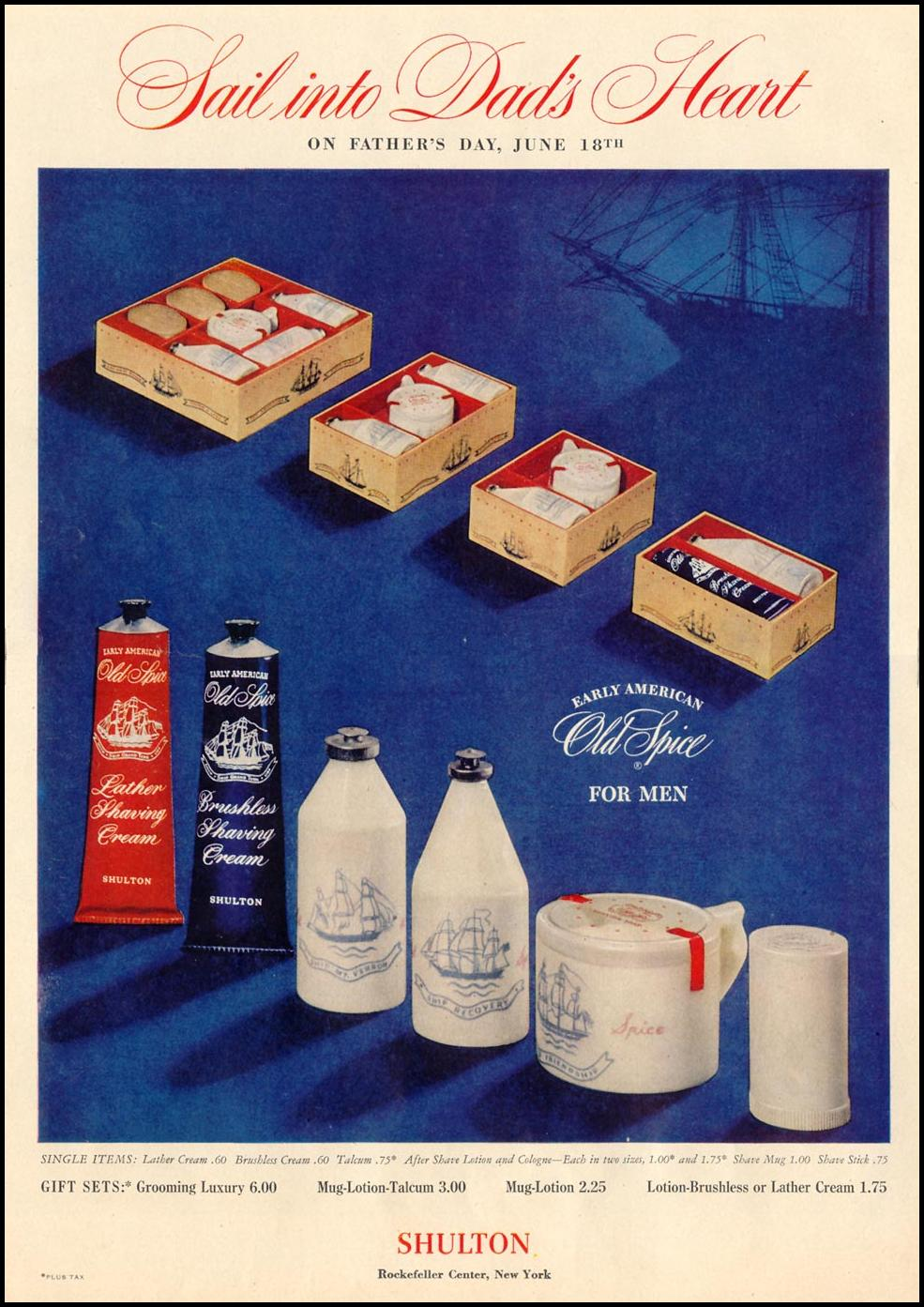 OLD SPICE FOR MEN LIFE 06/05/1950 p. 112