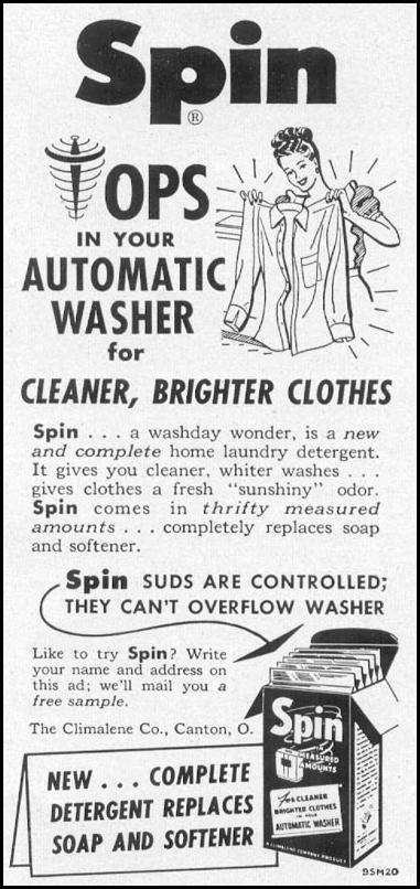 SPIN DETERGENT WOMAN'S DAY 10/01/1949 p. 151