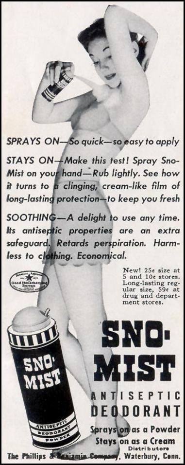 SNO-MIST ANTISEPTIC DEODORANT LIFE 06/23/1941 p. 9