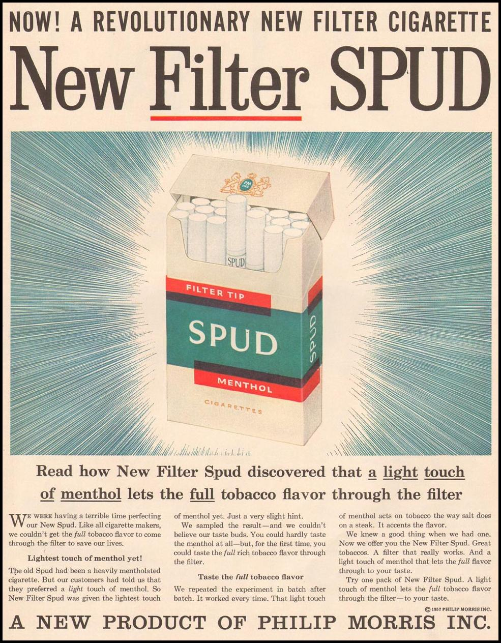 SPUD CIGARETTES LIFE 04/01/1957 p. 99