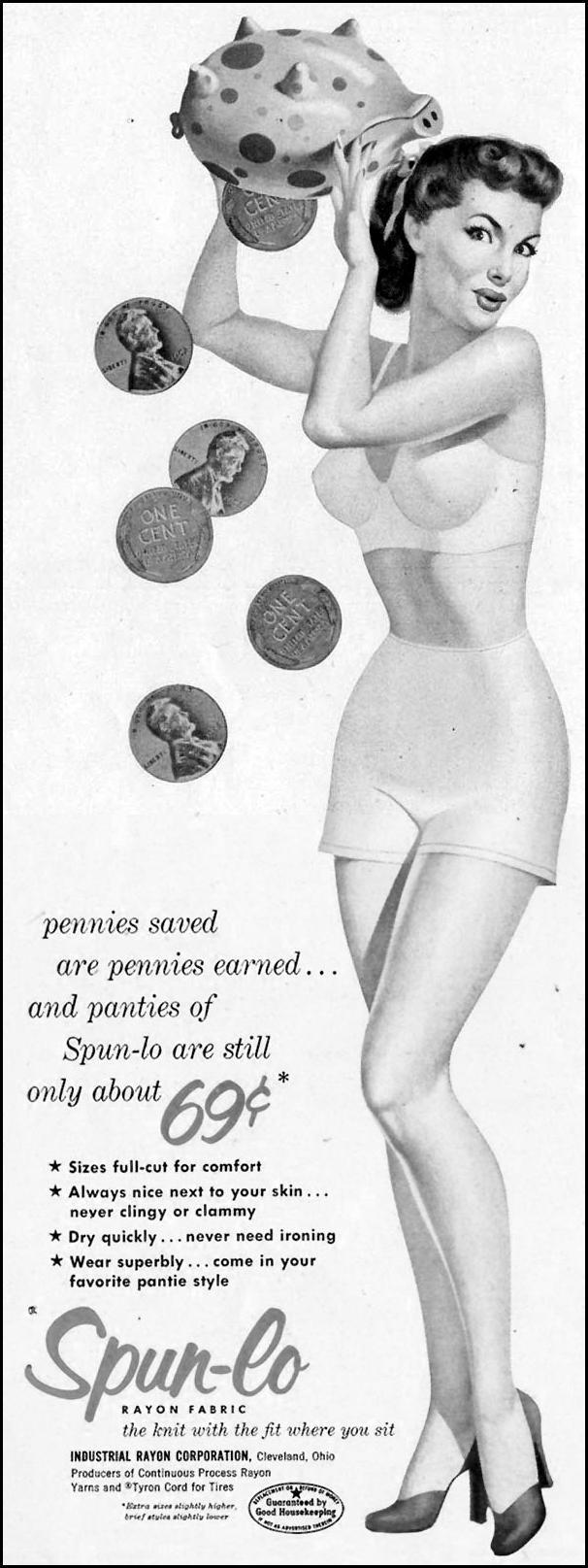 SPUN-LO RAYON FABRIC LIFE 10/19/1953 p. 78