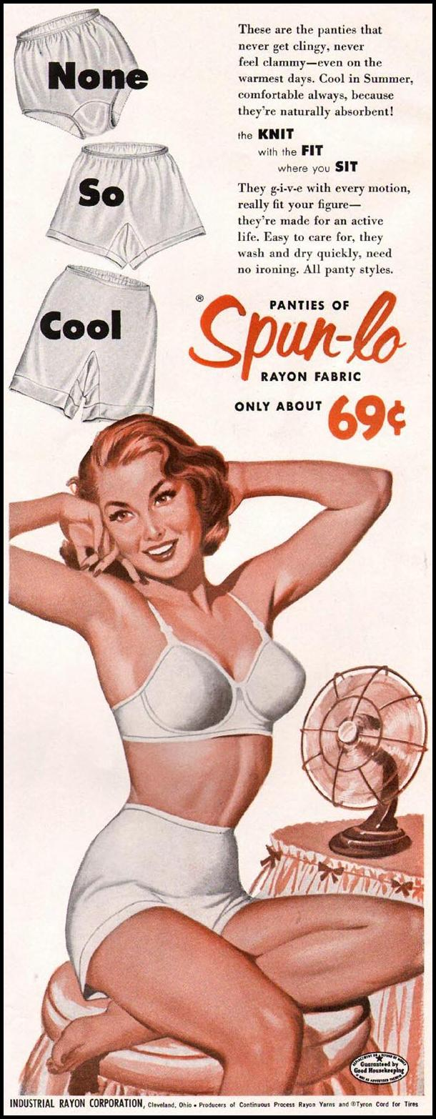 SPUN-LO RAYON FABRIC LADIES' HOME JOURNAL 06/01/1954 p. 21