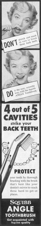 SQUIBB ANGLE TOOTHBRUSH LIFE 11/14/1955 p. 198