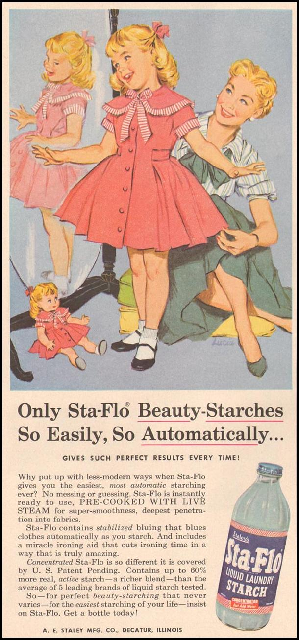 STA-FLO LQUID LAUNDRY STARCH GOOD HOUSEKEEPING 05/01/1957 p. 204