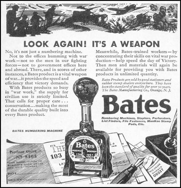 BATES NUMBERING MACHINE TIME 12/28/1942 p. 80