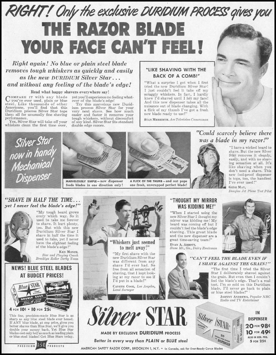 SILVER STAR RAZOR BLADES LIFE 06/05/1950 p. 39