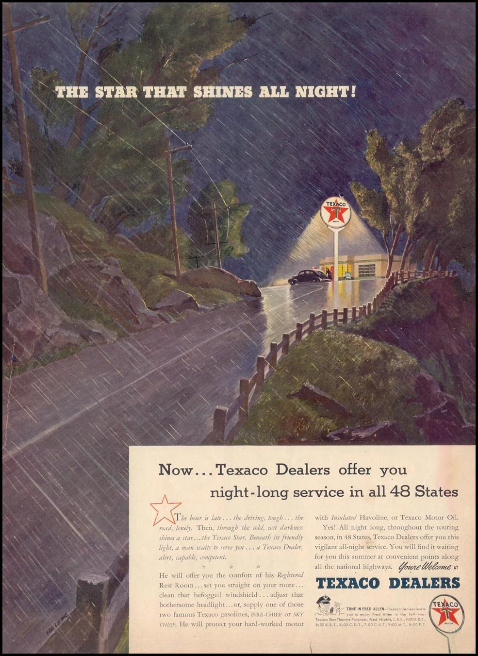 TEXACO ALL-NIGHT SERVICE LIFE 06/23/1941