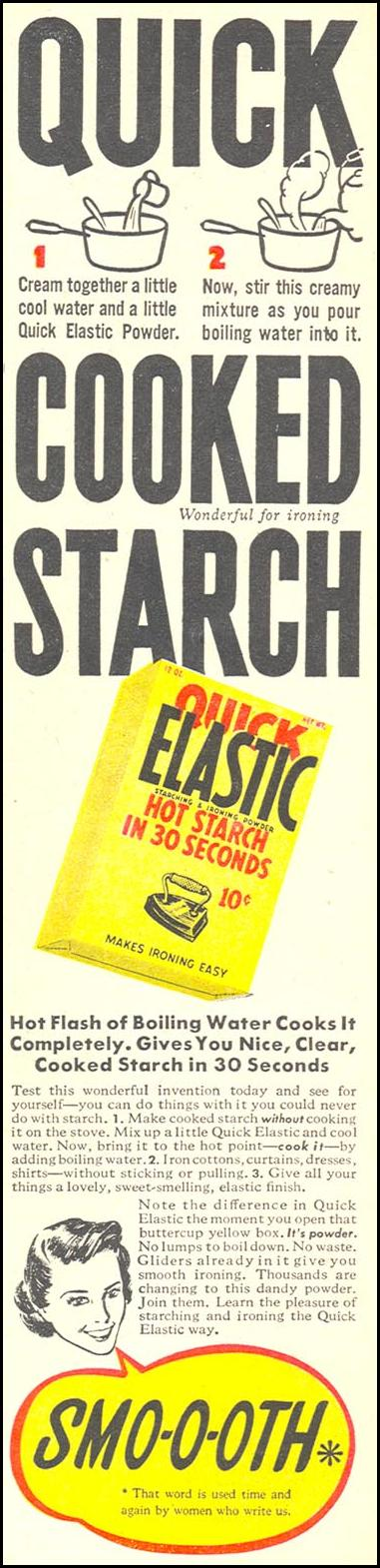 ELASTIC STARCHING & IRONING POWDER WOMAN'S DAY 09/01/1942 p. 3