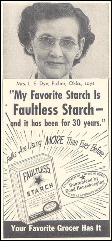 FAULTLESS STARCH GOOD HOUSEKEEPING 07/01/1948 p. 234