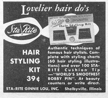 HAIR STYLING KIT PHOTOPLAY 08/01/1956 p. 107