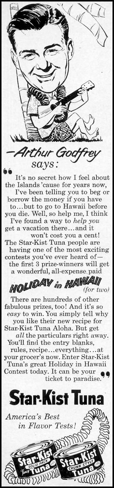 STAR-KIST TUNA WOMAN'S DAY 03/01/1954 p. 134
