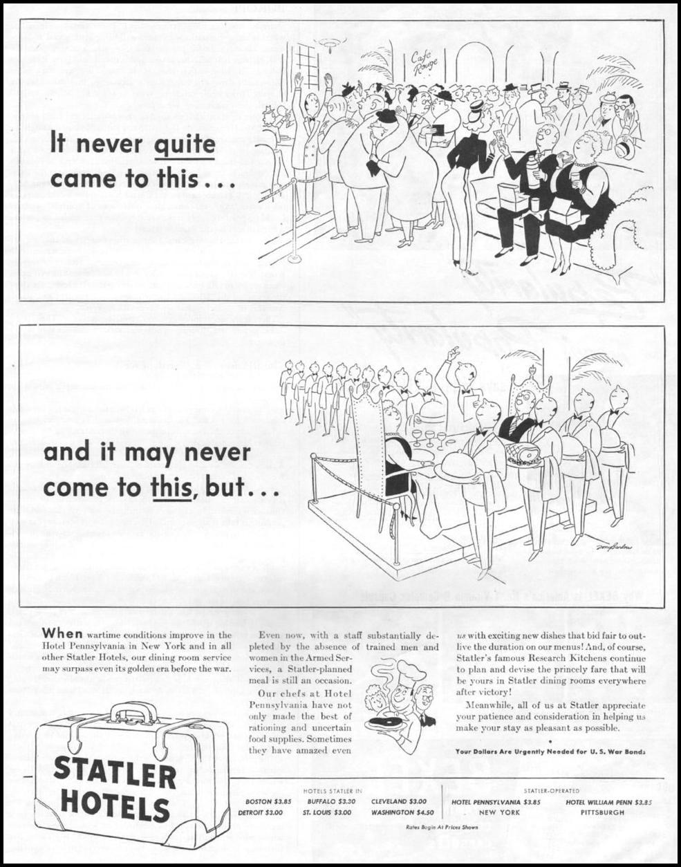 STATLER HOTELS LIFE 03/12/1945 p. 43