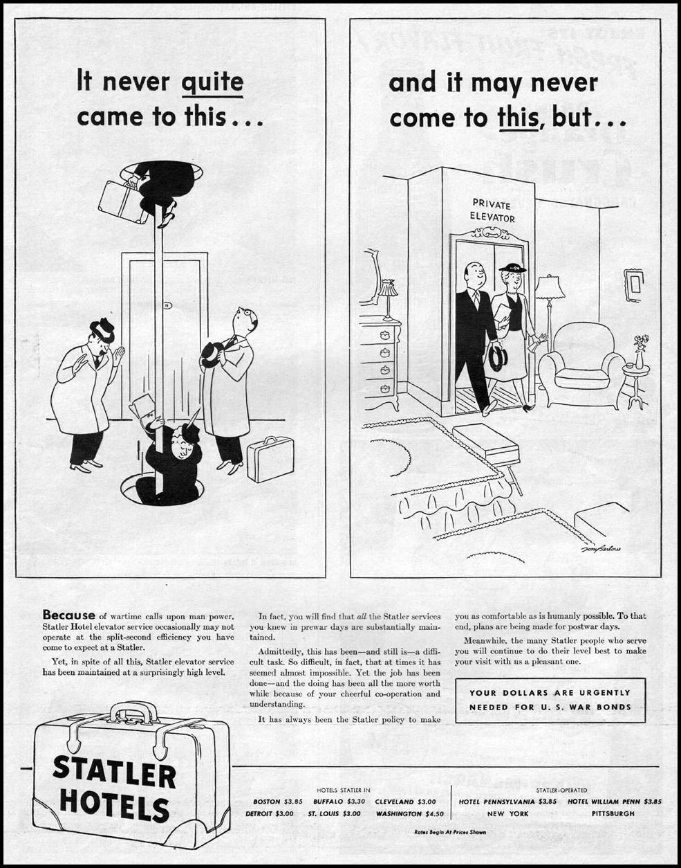 STATLER HOTELS LIFE 06/04/1945 p. 39