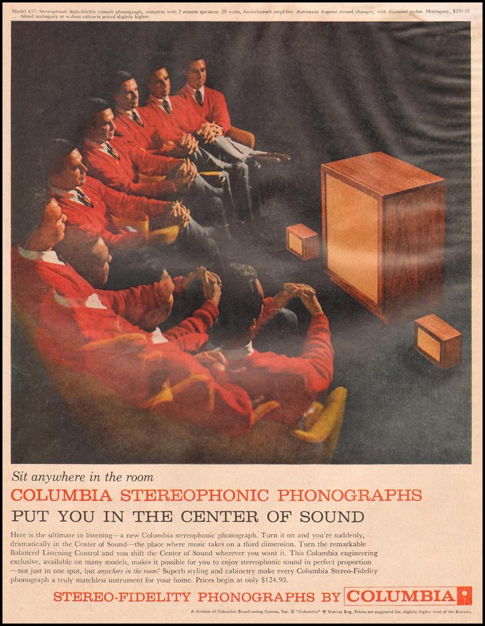 COLUMBIA STEREOPHONIC PHONOGRAPHS LIFE 11/24/1957