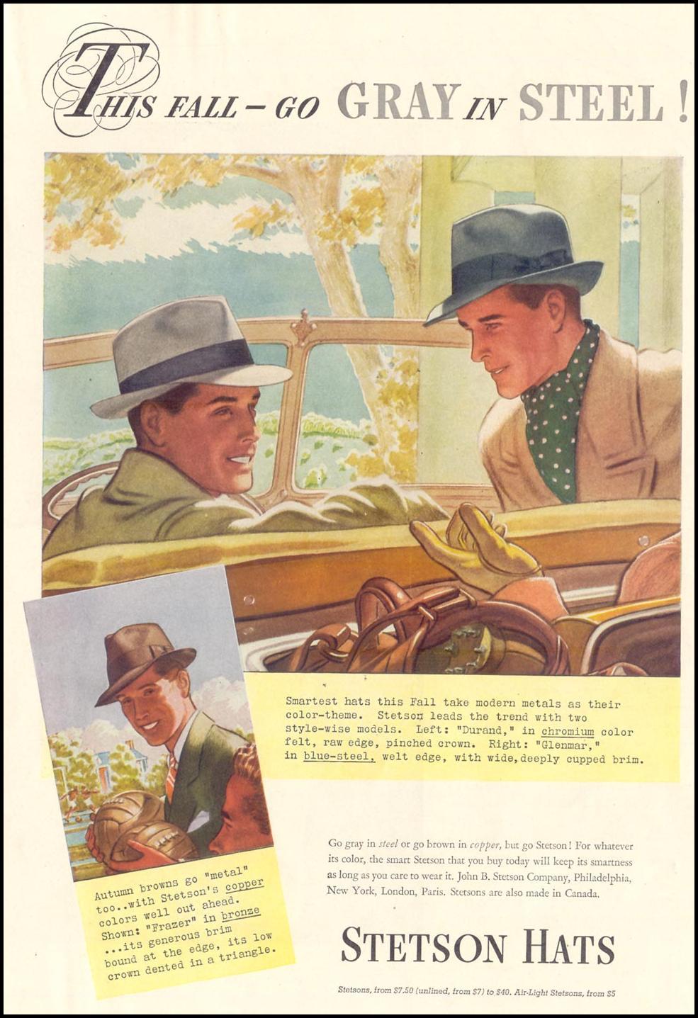 STETSON HATS LIFE 09/20/1937