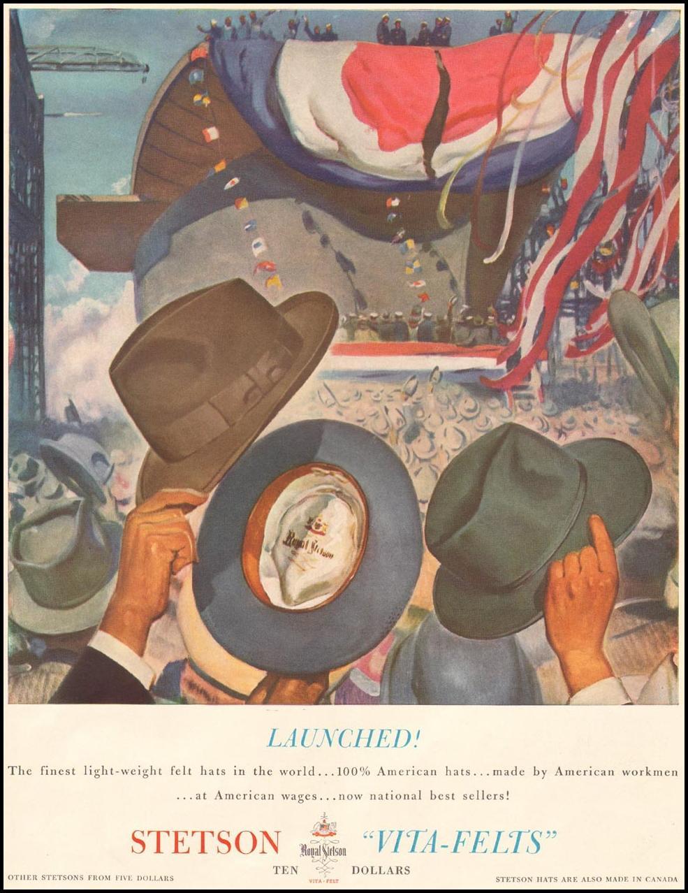STETSON VITA-FELT HATS LIFE 09/29/1941