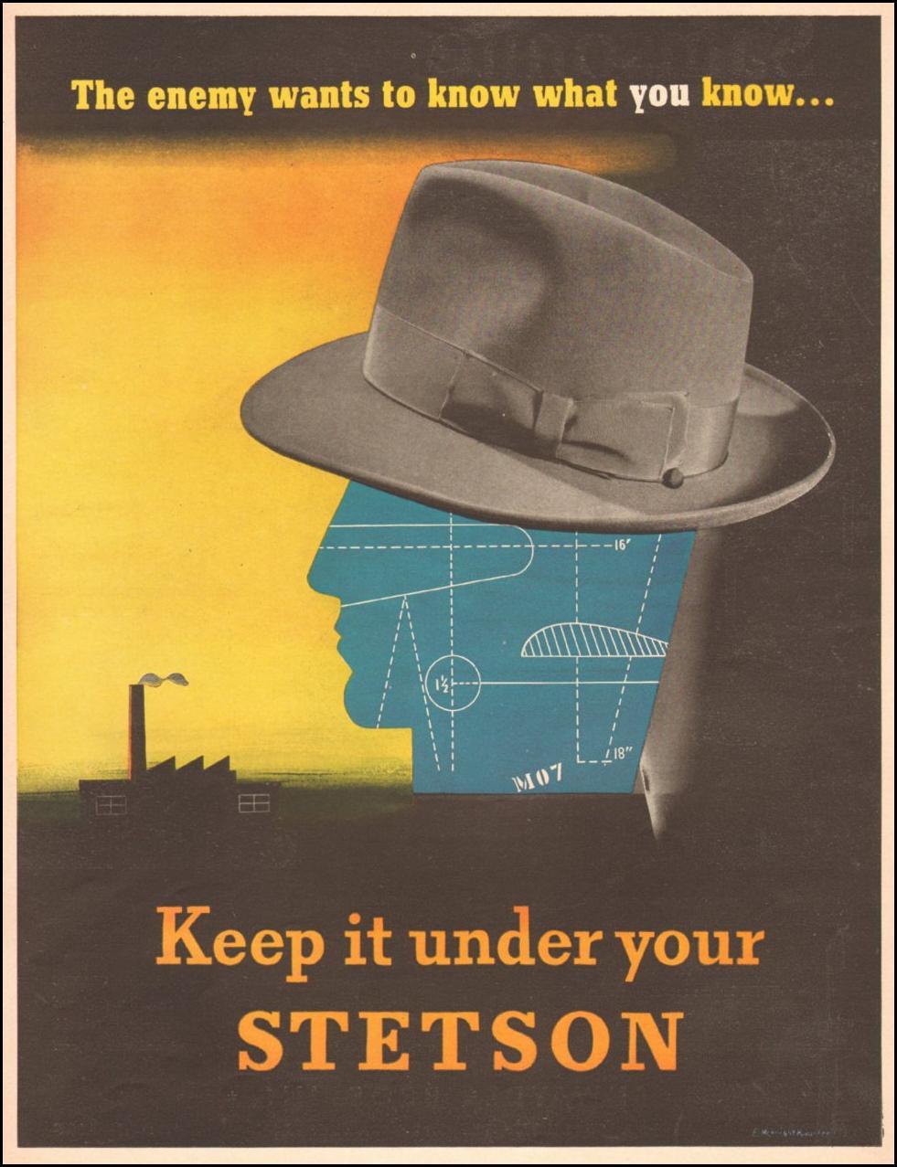 STETSON HATS LIFE 10/25/1943