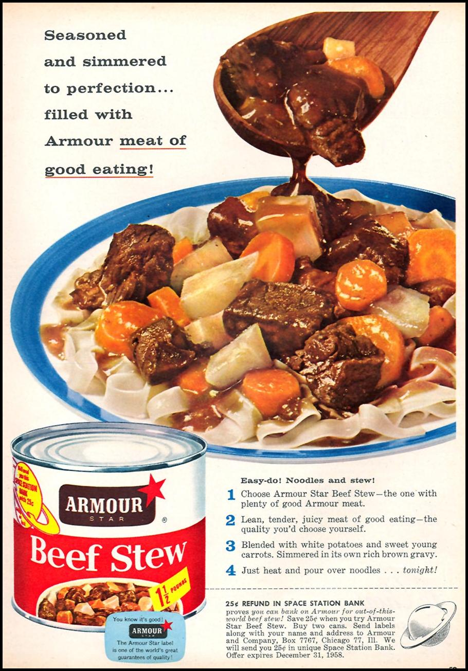 ARMOUR STAR BEEF STEW FAMILY CIRCLE 02/01/1958 p. 59