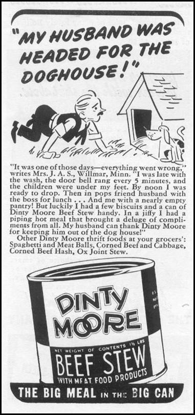 DINTY MOORE BEEF STEW WOMAN'S DAY 03/01/1939 p. 44