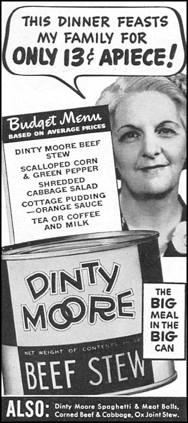 DINTY MOORE BEEF STEW WOMAN'S DAY 05/01/1940 p. 46