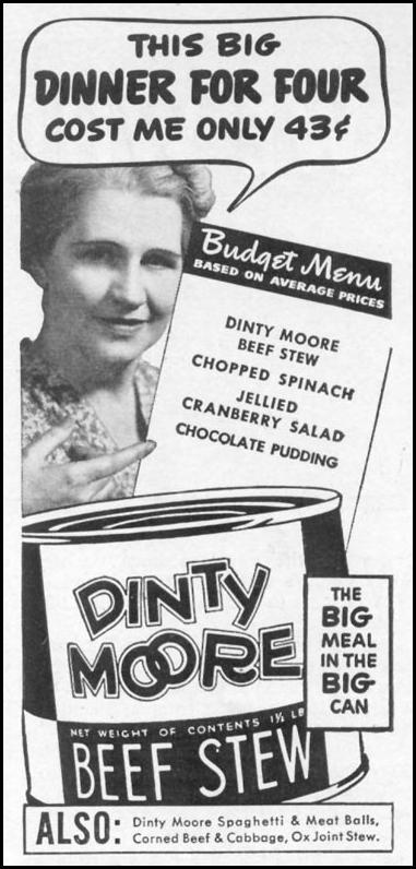DINTY MOORE BEEF STEW WOMAN'S DAY 12/01/1939 p. 3
