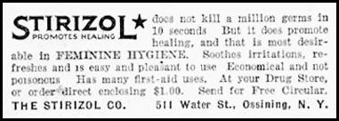 STIRIZOL ANTISEPTIC GOOD HOUSEKEEPING 11/01/1933 p. 194