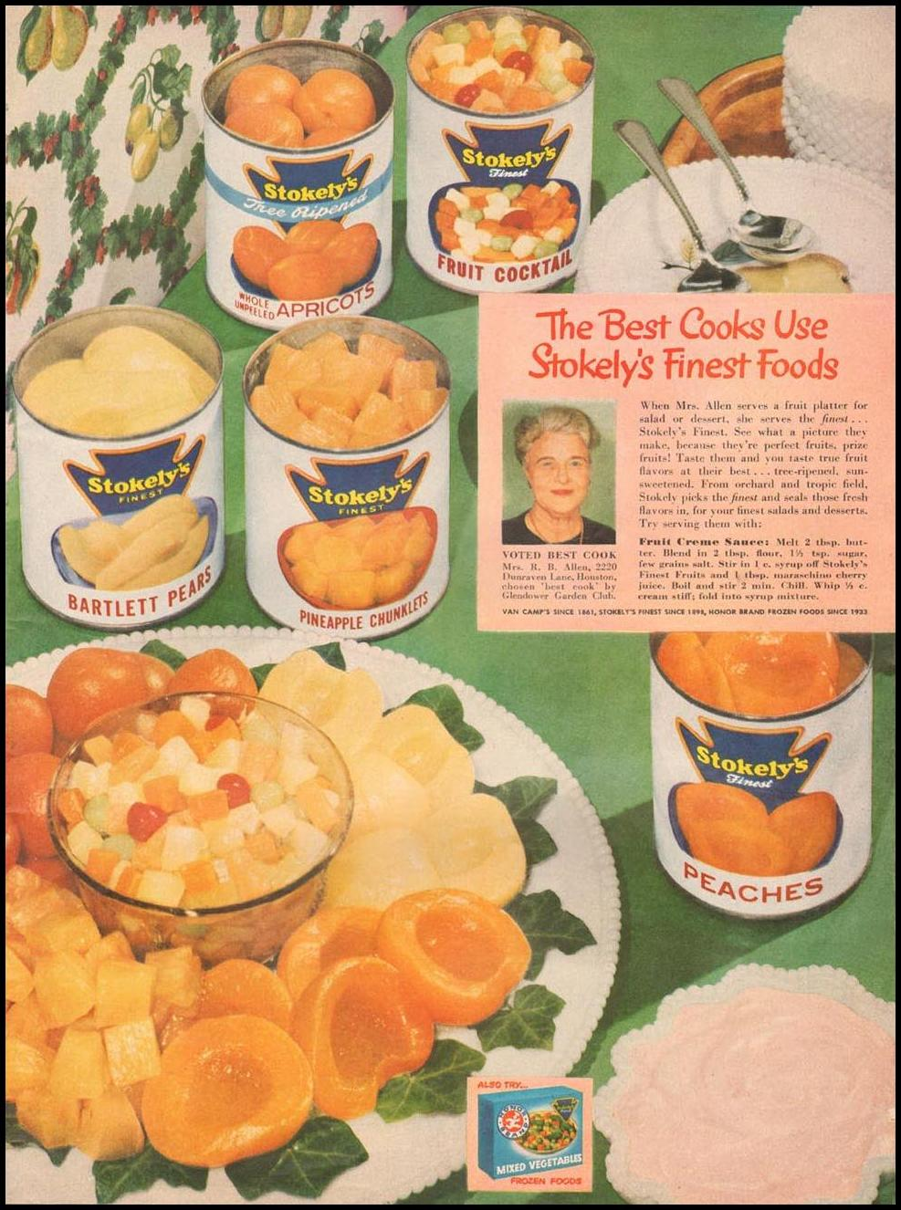 STOKELY'S CANNED FRUIT LIFE 04/30/1951 p. 19