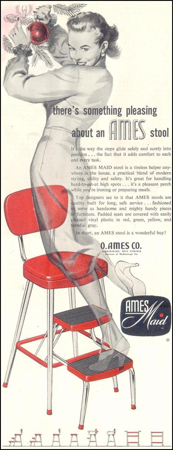 AMES MAID STOOL SATURDAY EVENING POST 12/10/1955 p. 94