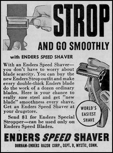 ENDERS SPEED SHAVER SATURDAY EVENING POST 05/19/1945 p. 74