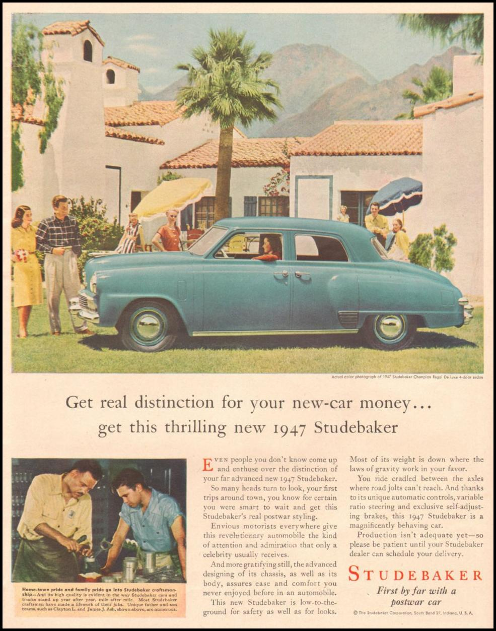 STUDEBAKER AUTOMOBILES LIFE 11/25/1946