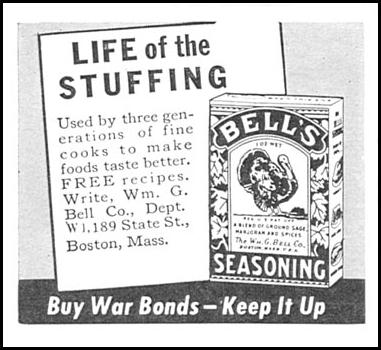 BELL'S SEASONING WOMAN'S DAY 11/01/1945 p. 88