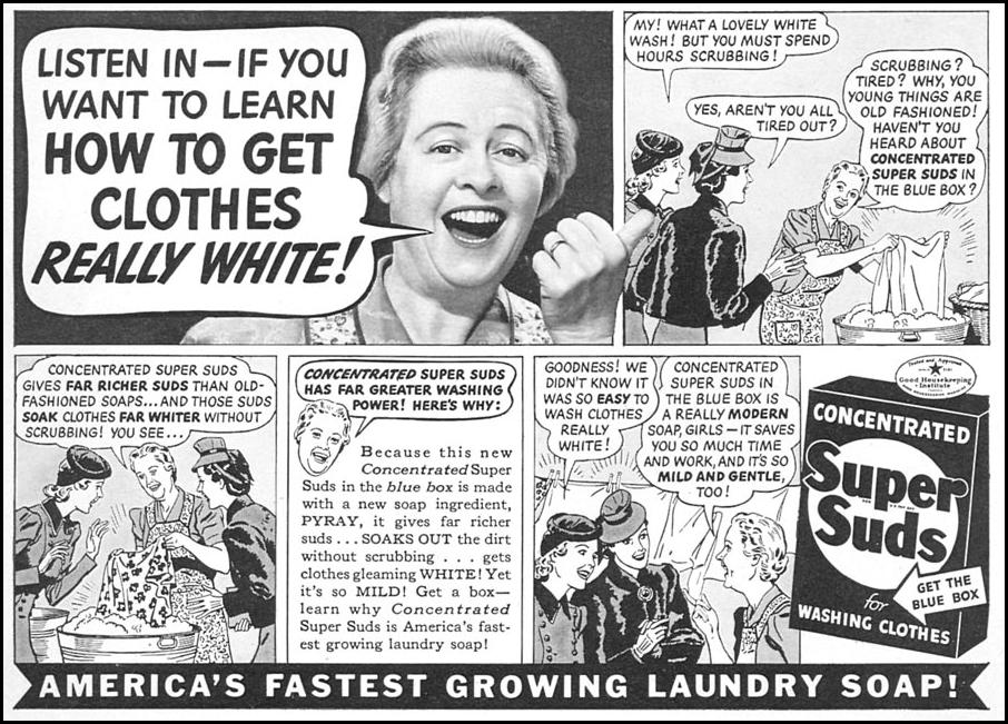 SUPER SUDS LAUNDRY SOAP WOMAN'S DAY 05/01/1940 p. 49