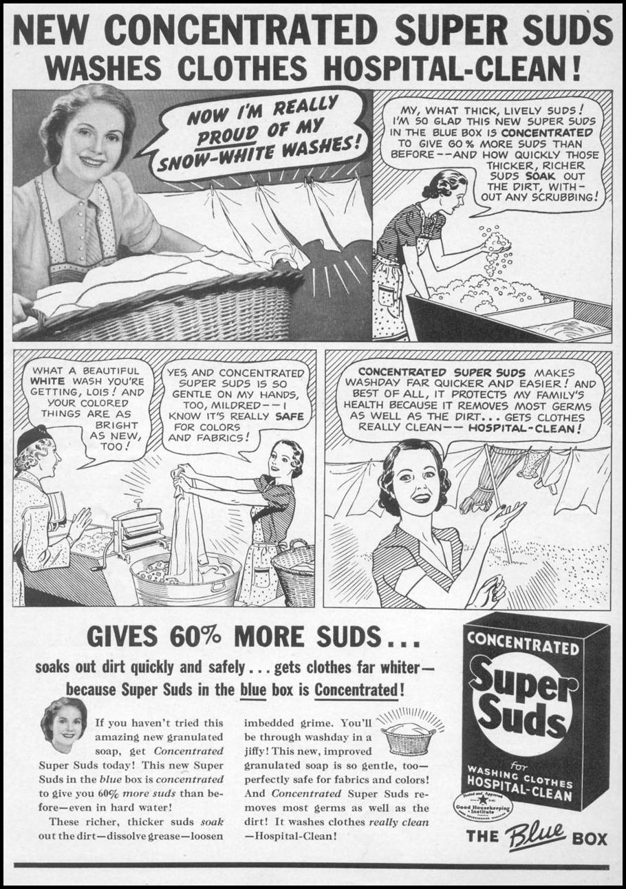 SUPER SUDS LAUNDRY SOAP WOMAN'S DAY 11/01/1938 p. 2