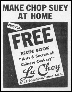 LA CHOY CHOP SUEY WOMAN'S DAY 06/01/1941 p. 66