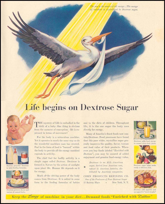 PURE DEXTROSE SUGAR LIFE 06/01/1942