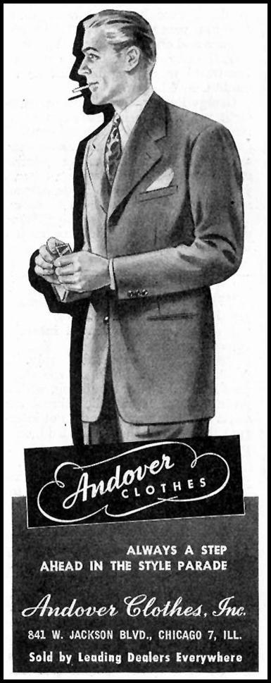ANDOVER CLOTHES SATURDAY EVENING POST 10/06/1945 p. 53