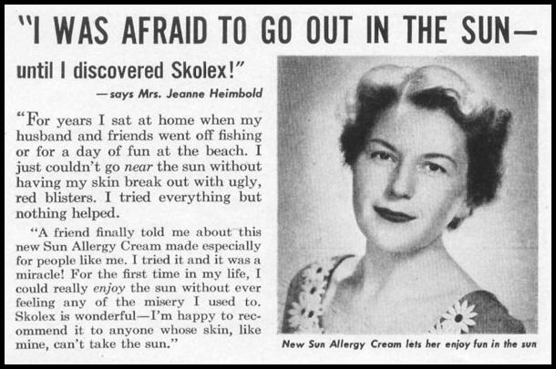 SKOLEX SUN ALLERGY CREAM LIFE 06/16/1952 p. 98