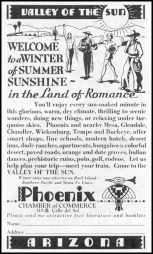 ARIZONA TOURISM NEWSWEEK 11/09/1935 p. 40