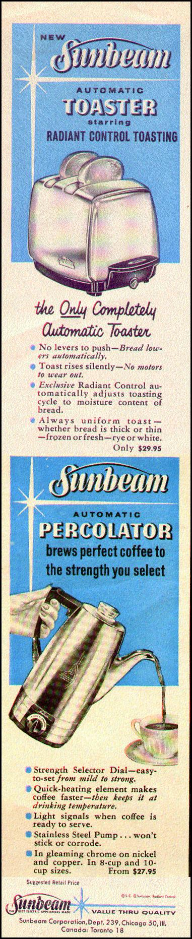 AUTOMATIC TOASTER & AUTOMATIC PERCOLATOR LOOK 09/16/1958 p. 4