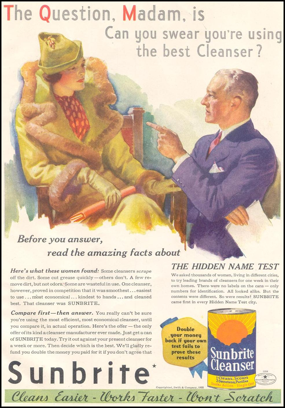 SUNBRITE CLEANSER GOOD HOUSEKEEPING 03/01/1935