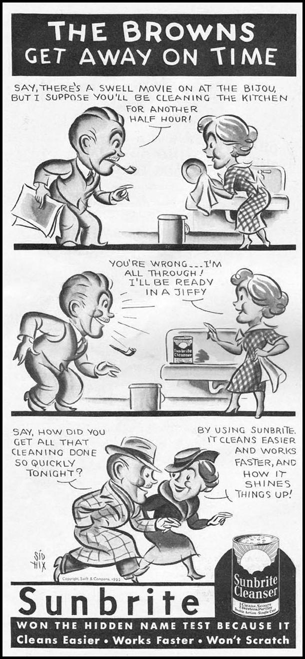 SUNBRITE CLEANSER GOOD HOUSEKEEPING 12/01/1935 p. 156