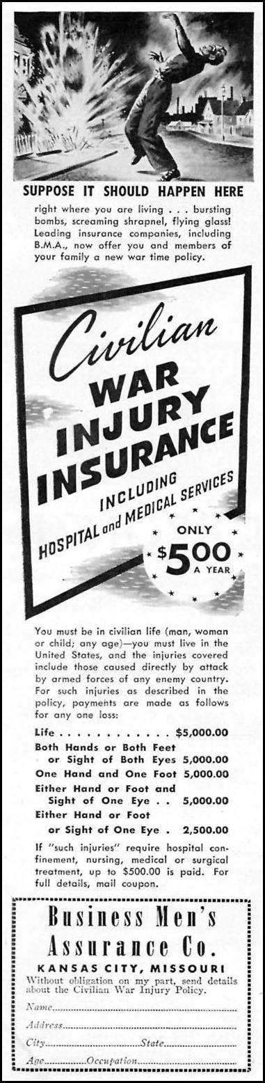 CIVILIAN WAR INJURY INSURANCE TIME 08/17/1942 p. 72