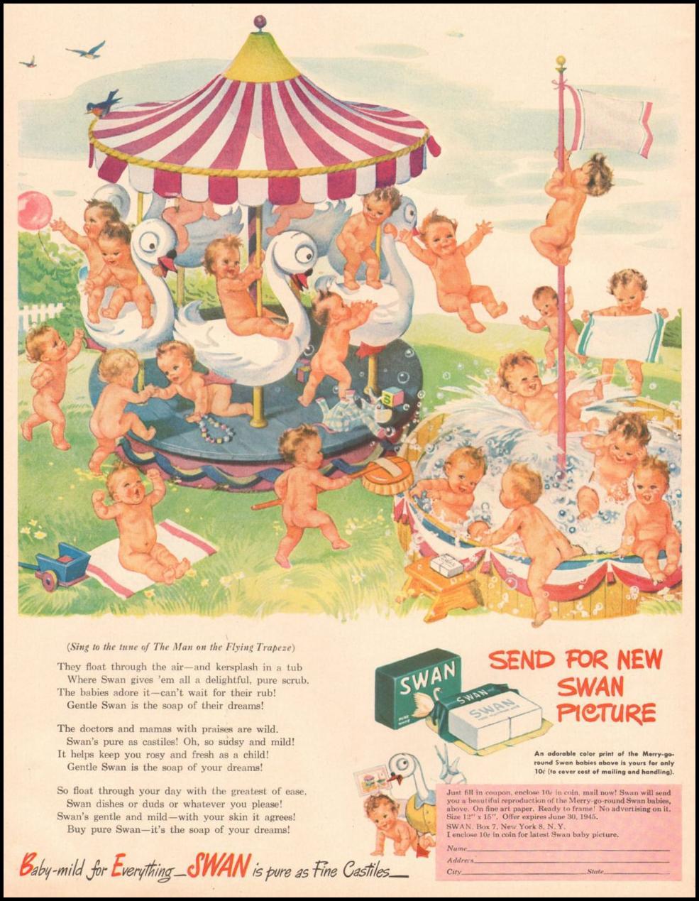 SWAN SOAP LIFE 03/12/1945